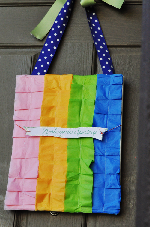 photo crafts ideas: sewing paper bag