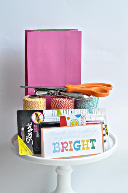 Teacher Appreciation Gift Topper Supplies