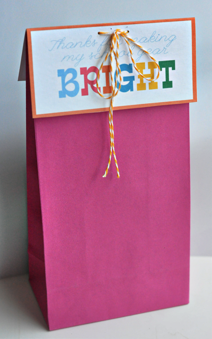 Gift bag ready to present to your favorite teacher - Enjoy.