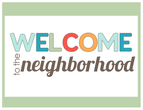 image regarding Welcome to the Neighborhood Printable referred to as Fresh Neighbor Present Strategy