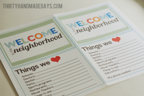 photo regarding Welcome to the Neighborhood Printable named Fresh Neighbor Present Thought