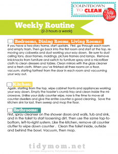 Weekly Routine Checklists