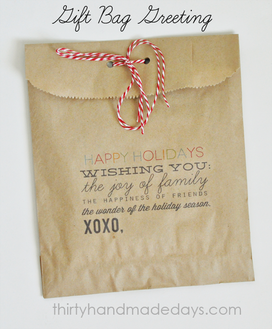 photograph regarding Printable Gift Bags referred to as Present Baggage: Printable Family vacation Structure