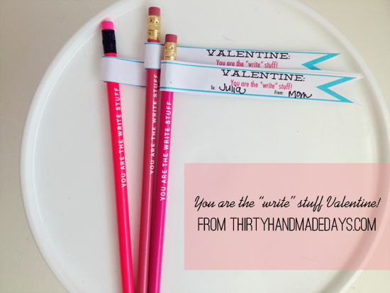 """Valentines Card: You Are The """"write"""" Stuff"""