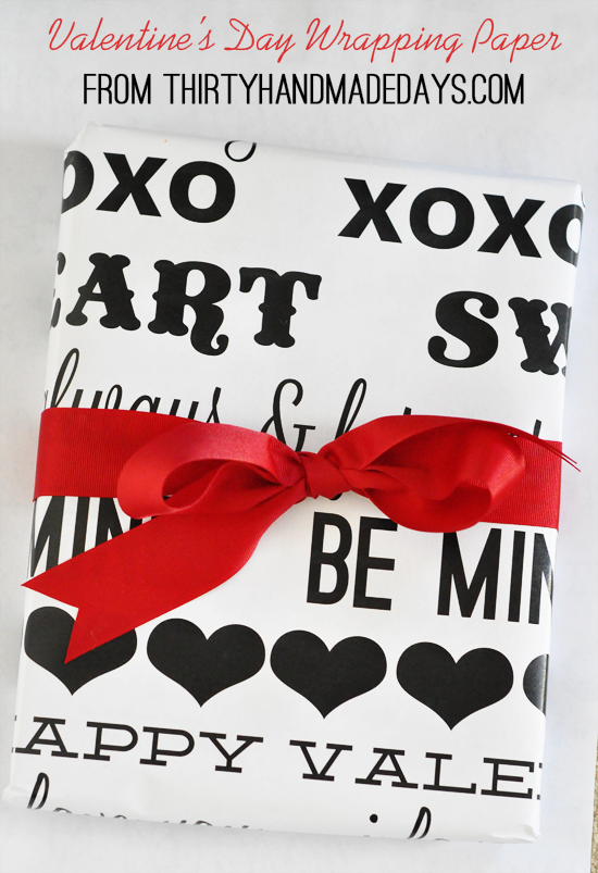 save - Valentines Day Wrapping Paper