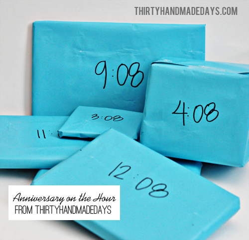 Good 1 Year Anniversary Ideas For Him : Anniversary Gifts: On the Hour - Thirty Handmade Days