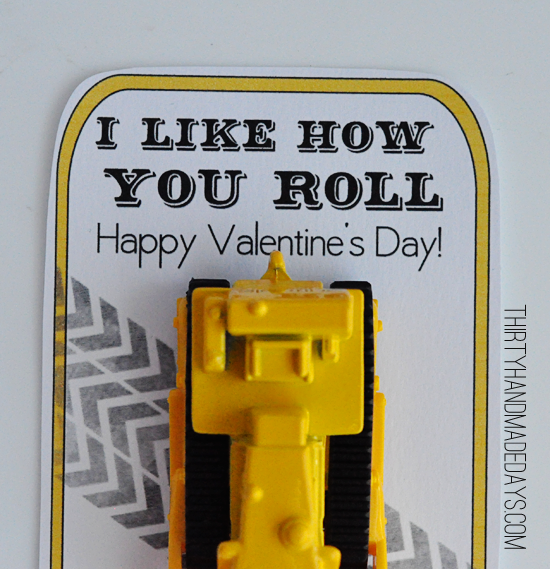 I Like How You Roll Printable Valentine by 30 Days