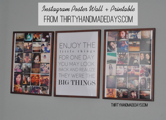 photo relating to Printable Poster Board known as Pics for Partitions: Instagram Poster + Printable